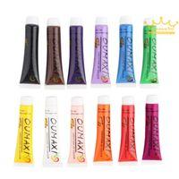 acrylic paint tubes - New Acrylic UV Gel Design D Paint Tube Nail Art Pen Colors Nail Polish False tips Drawing