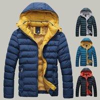 Wholesale 2016 Brand Fashion Down Parkas Outdoor Hooded Warm Windproof Winter Jacket Men Casual Clothes Men s Jacket Man Cotton Coat