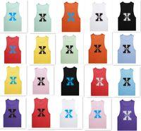 Wholesale 20 colors MenTank Top Sport Sleeveless Brand ADDICTED sexy X printing tank men s gym vest sport tank D775