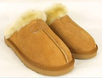 australian leather - Australian brand Warm cotton slippers Men And Womens slippers Short Boots Women s boots Snow boots Indoor cotton slippers