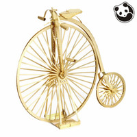 bicycle model kit - Pandamodel Chinese Metal Earth ICONX D Metal model kits inch The old bicycle golden Sheets Military brass Puzzles DIY