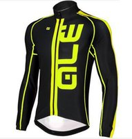 Wholesale 2016 Newest ALE cycling jersey long sleeves cycling Tops Red Yellow Green Fluo Bicycle clothing Cycling Shirts Size XS XL