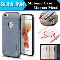 air vent covers - Motomo Metal Aluminum Brushed PC TPU Hard Back Cover for iPhone s se s Plus Built in Magnet Metal Sheet for Magnetic Air Vent Holder