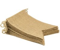 banner kit - Swallowtail Pennant Jute Hessian Burlap Bunting Banner kit Wedding party Photography Props Decoration Design Your Own Banner Flags ft