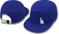 Wholesale New MLB LA Dodgers Medium Raised Embroidery Letter Adjustable Snapback Hat Structured Classic High Crown Baseball Cap df