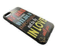 apple case computer - VODEX iphone7 P scrub hard case relief graffiti letters iphone6s P mobile phone computer completely protection fashion back cover