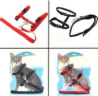 Wholesale Pet Cat Kitten Adjustable Harness Nylon Collar Safety Belt Rope Lead Leash