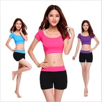 active pilates - Pilates Yoga Set Shirt Top Short Suit Women Jumpsuit Solid Soft Comfortable Modal Yoga Set Running Fitness Sports Tights Shirt