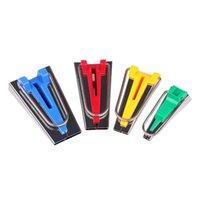 al por mayor bies de tela-4pcs / set Tela Bias Tape Maker Herramienta de vinculación de costura que acolcha 6 mm 12 mm 18 mm 25 mm