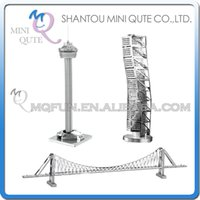 architecture toys - DHL Piece Fun D World architecture Tower Americas Malmo Building Bosphorus Bridge Metal Puzzle adult models educational toy