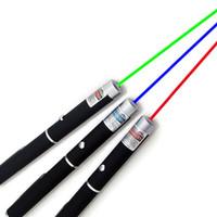achat en gros de stylet professionnel-15CM Grand Vert Puissant Bleu Violet pointeur laser rouge Pen Stylus barrages immatériels Lumières 5mW Professional High Power Laser 532nm 650nm 405nm
