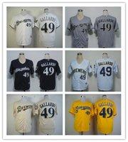 milwaukee - baseball jerseys Milwaukee Brewers Jersey GALLARDO high quality baseball jerseys freeshipping