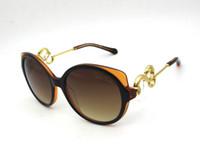 al por mayor las gafas de sol en caja escudo-Gafas de sol Roberto's Ladies 1035 Gold Snake Design Escudo Gafas de sol con caja original gafas de sol oculos