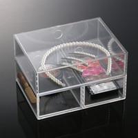 plastic drawer storage box - New Anti Scratch Acrylic make up organizer cosmetics plastic drawer storage insert holder box makeup jewelry case MN C