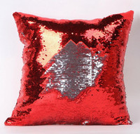Wholesale Sequins Pillow Case Tone Color Sofa Pearl Sequin Pillowslip Reversible Iridescent Glow Mesmerized Pillow Covers Home Decorative