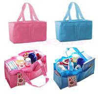 baby clothes dividers - newest Outdoor Travel Portable Baby Diaper Nappy Divider Storage Organizer Bag Handbag
