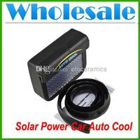 Wholesale NEW Solar Powered Car Auto Air Vent Cool Cooler Fan With Rubber Stripping lots100