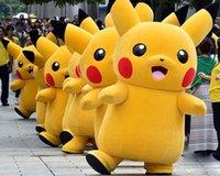 Wholesale 2016 Hot sale Pikachu Mascot Costume Fancy Dress Outfit Pikachu Mascot Costumes Free DHL or EMS