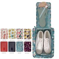 Wholesale Shoes Bag Travel Packing Cubes Digital Print Waterproof Travel Shoes Bags Organizer Bags for Shoes Double Layer Shoes Bag Bolsos de zapatos