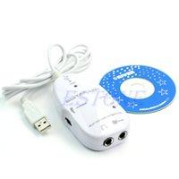 B76 blanca 1pc guitarra eléctrica al adaptador de grabación Enlace de música audio cable de interfaz USB para la PC
