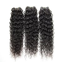 Wholesale 100 Brazilian Natural Curly Human Hair Products inch Natural Black Color Factory Price
