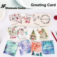 Wholesale Newest Santa Claus Greeting Cards Invitation Postcard Christmas Greeting CARDS Best Wishes For Birthday Christmas Party Gift