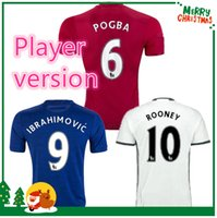 Wholesale Player version UnITED IBRAHIMOVIC POGBA Soccer Jerseys Uniforms SCHWEINSTEIGER MEMPHIS ROONEY MancHester Football shirts