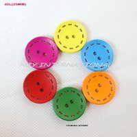 Wholesale colors each wooden buttons bulk sewing crafts and decoration quot MM BY0207