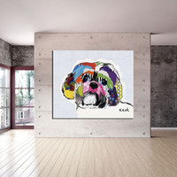 Wholesale Shih Tzu house paint and wall painting for home decor idea oil painting art print on canvas No Framed picture