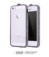 Wholesale 2016 Luxury Rhinestone Case for Apple iPhone SE s s Plus Crystal Diamond Metal Cover Fashion Frame Casing The Best quality