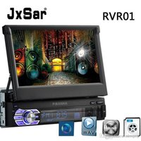 Wholesale Universal DIN Stereo Car Radio MP5 Double Screen inch Retractable Touch Screen with Reverse Image Bluetooth Hand free Calls Caller ID