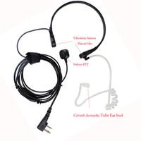 best radio microphones - Best Vibration Throat Mic Walkie Talkie Microphone Headset For Radio BAOFENG UV R UV B6 GT Wouxun kg uv8d Throat Microphone