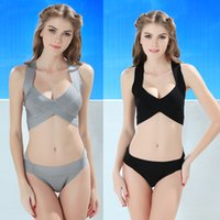 Wholesale Bandage Swimwear Y869 Two Colors Choose Sexy Bikini Swimwear Slim Thin Bandage Swimsuit Split Tankinis