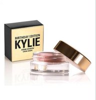 Wholesale 288pcs Pre order new Arrival kylie birthday eyeshadow eyebrow colors copper rose gold with dhl free