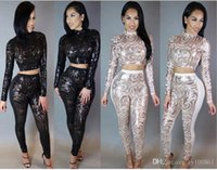 america stores - High Quality explosion models in Europe and America star sequined two piece geometric bandage jumpsuit pants zy100862 store cropped