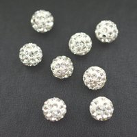 Wholesale Cheap mm various Color Micro Pave CZ Disco Ball Crystal Shamballa Bead Bracelet Necklace Beads mm