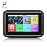 Wholesale Clear Stock Excelvan GB quot TFT Touch Screen Motorcycle Car GPS Navigation Waterproof Bluetooth NAV Map Free