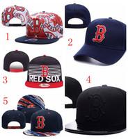 Wholesale Boston Snapbacks Red Sox Team Snapback Adjustable Snapback Hats Cheap Baseball Caps Fashion Hip Hop Hats Popular Ball Caps