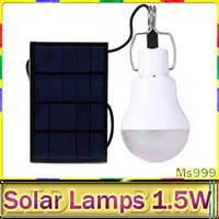 Cheap Hot 15w Solar Lamp Powered Portable Led Bulb Lamp Solar Energy Lamp led Lighting Solar Panel Camp Night Travel Used 5-6hours