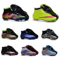 Wholesale 2016 New Top sale Original Outdoor Mercurial Superfly VI FG CR7 Soccer Shoes Magista Obra Football shoes Hypervenom II football Cleats