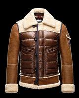 authentic fur coats - Cheap New High quality Men s Brown Retro Winter Down jacket Authentic Warm Men Coat Down Jacket