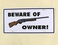 bar owner - Metal Tin Sign Beware Of Owner Embossed License Plate Man Cave Bar Pub Cafe Home Wall Decor Art Poster x12inch