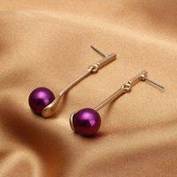 Acheter Perle solide-Boucles d'oreilles en perles solides de luxe et perles Boucles d'oreilles en similicuir OL Fashion Fashion Earrings OEM ODM Wholesale