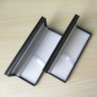 Wholesale 2Pcs Business stationery gift Black color pen box pencil casewith silver plating decoration line