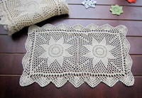 bamboo table runners - 30x50cm oblong table runner handmade table overlays hand crochet table cover table mat for home decor nice crochet pattern