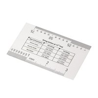 Wholesale Acoustic Electric Guitar String Action Ruler Gauge Steel Luthier Tool Setup in mm for Guitar Bass new arrival
