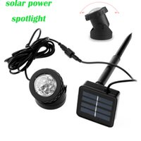 IP68 aluminium solar light - Solar Powered Spotlight led solar light outdoor garden light Waterproof Dustproof IP68 Aluminium led Cool White