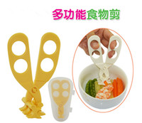 Wholesale 2016 Hot Sales Multifunction Baby Food Supplement Scissors Food Crushed Universal Scissors Health And Safety Portable Box Packaging