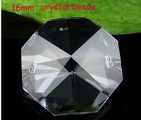 Wholesale mm faceted cuts glass octagon beads in holes DIY wedding garland strand beads