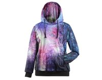 aurora shipping - 2016 new women s new d printed hoodies sudaderas hombre moletom aurora tree emoji hood hoodies jacket top